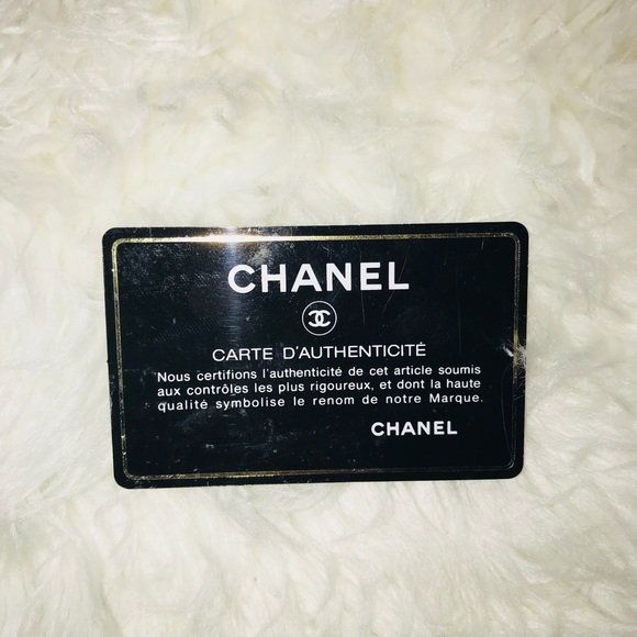 CHANEL Accessories | Authentic Certification Card | Poshmark